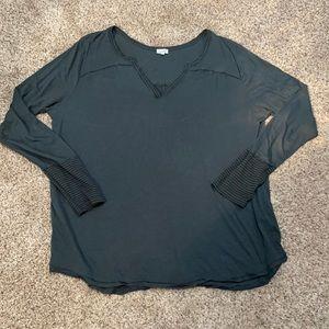 Kismet Dark Green Long Sleeve Top